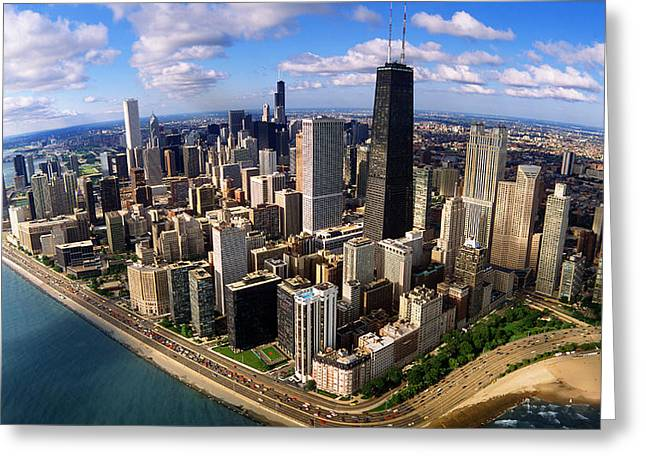 Lake Shore Drive Greeting Cards - Chicago Il Greeting Card by Panoramic Images