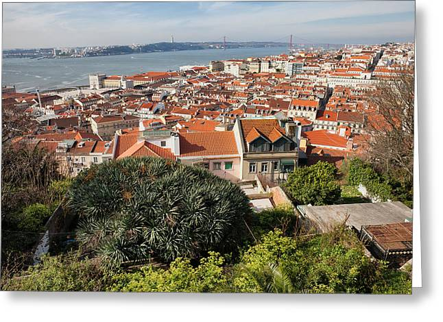 Historic Home Greeting Cards - City of Lisbon in Portugal Greeting Card by Artur Bogacki