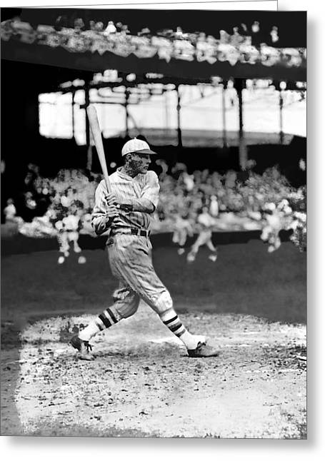 Baseball Bat Greeting Cards - Clarence F. Heinie Mueller Greeting Card by Retro Images Archive