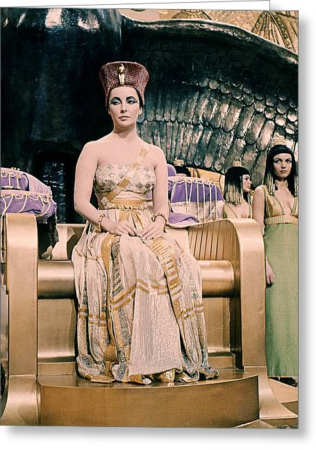 Cleopatra Greeting Cards - Cleopatra  Greeting Card by Silver Screen