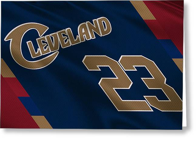 Lebron James Greeting Cards - Cleveland Cavaliers Uniform Greeting Card by Joe Hamilton