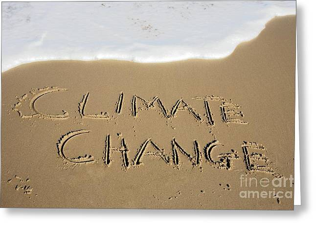 Rising Sea Level Greeting Cards - Climate Change, Conceptual Image Greeting Card by Victor de Schwanberg