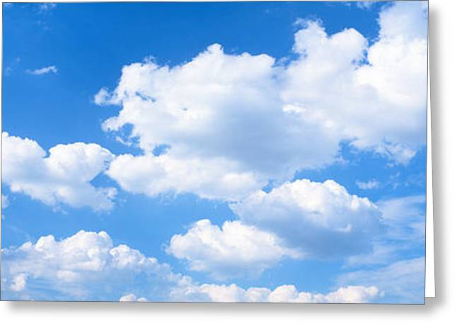 Puffy Clouds Greeting Cards - Clouds Greeting Card by Panoramic Images