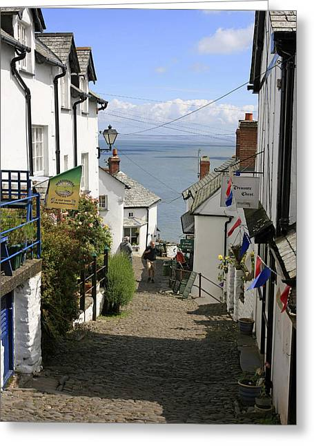 Main Street Greeting Cards - Clovelly Greeting Card by Chris Smith