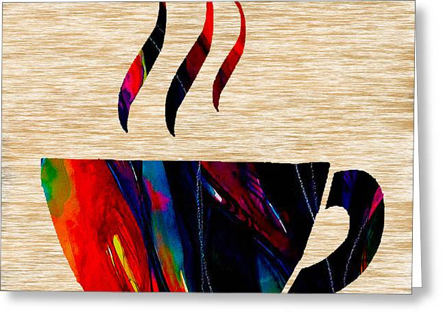 Restaurant Art Greeting Cards - Coffee Greeting Card by Marvin Blaine