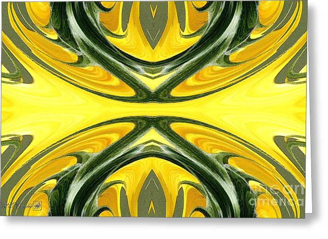 Proportionate Greeting Cards - Color Fashion Abstract Greeting Card by J McCombie