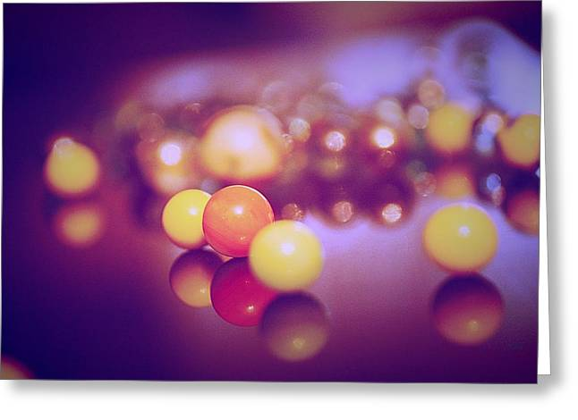 Marble Eye Greeting Cards - Colorful Marbels30 Greeting Card by Michael James Greene
