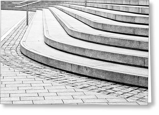 Concrete Steps Greeting Card by Tom Gowanlock