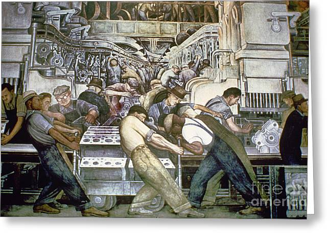 African-american Institute Greeting Cards - Diego Rivera - Detroit Greeting Card by Granger