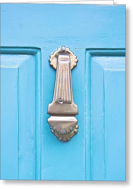 Royal Art Greeting Cards - Door knocker Greeting Card by Tom Gowanlock