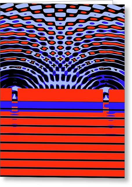 Double-slit Experiment Greeting Card by Russell Kightley