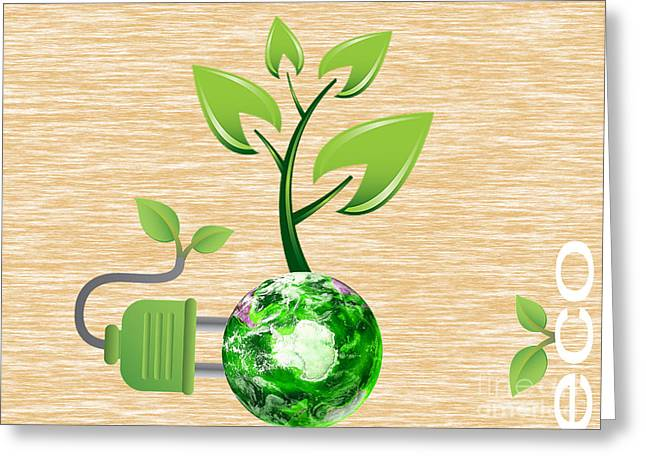 Energy Mixed Media Greeting Cards - Eco Greeting Card by Marvin Blaine