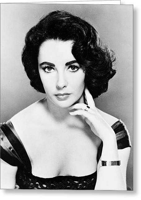 Glamorous Greeting Cards - Elizabeth Taylor Greeting Card by Silver Screen
