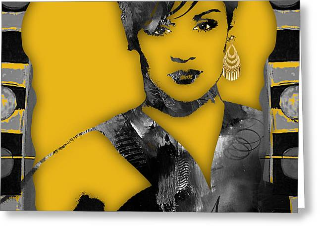 Empire's Grace Gealey Anika Gibbons Greeting Card by Marvin Blaine
