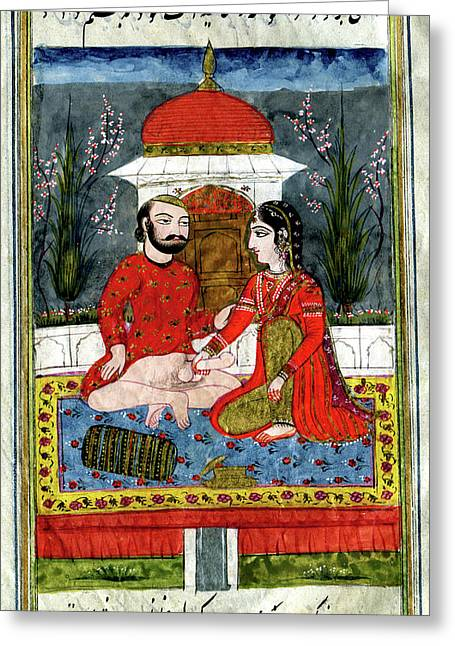 Erotic Indian Story Greeting Card by Cci Archives