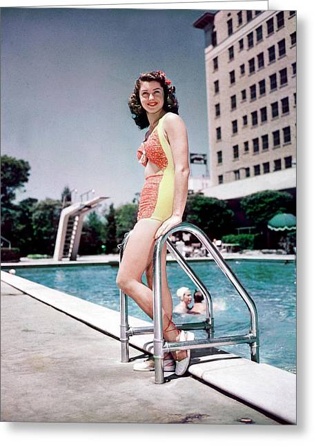 Esther Greeting Cards - Esther Williams Greeting Card by Silver Screen