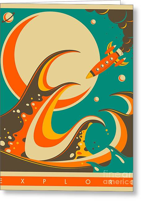 Wave Greeting Cards - Explore Greeting Card by Jazzberry Blue