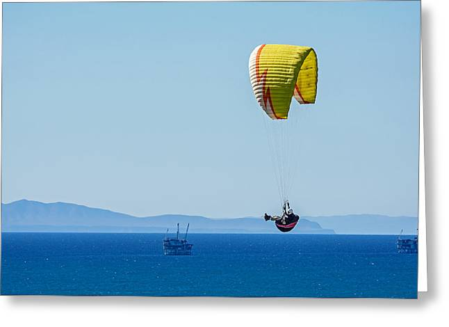 Rincon Beach Photographs Greeting Cards - Flying Greeting Card by Elijah Weber
