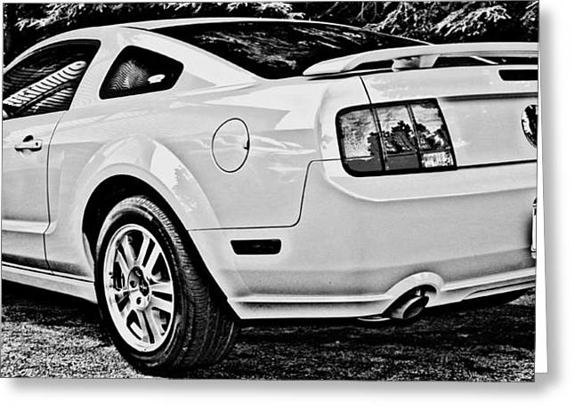 Ford Mustang Drawings Greeting Cards - Ford Mustang GT Greeting Card by Aurelio Zucco