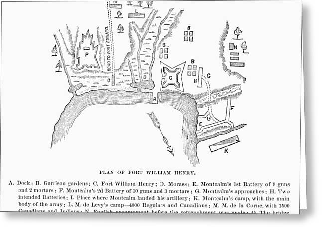 1757 Greeting Cards - Fort William Henry, 1757 Greeting Card by Granger