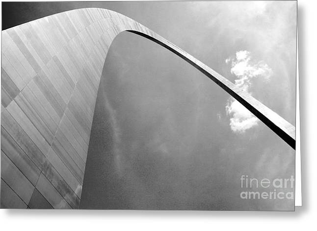 Upshot Greeting Cards - Gateway Arch Saint Louis MO Greeting Card by Bill Cobb