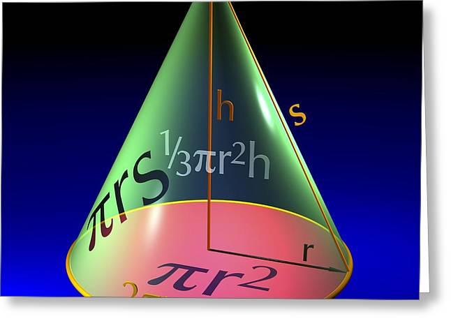 Geometric Artwork Greeting Cards - Geometry Equations, Artwork Greeting Card by Russell Kightley