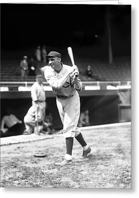Baseball Uniform Greeting Cards - George L. Highpockets Kelly Greeting Card by Retro Images Archive