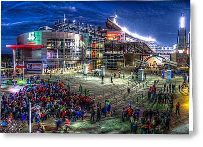 Foxborough Greeting Cards - Gillette Stadium Greeting Card by James Wellman