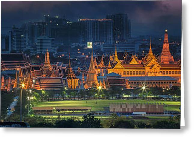 River View Greeting Cards - Grand palace  Greeting Card by Anek Suwannaphoom