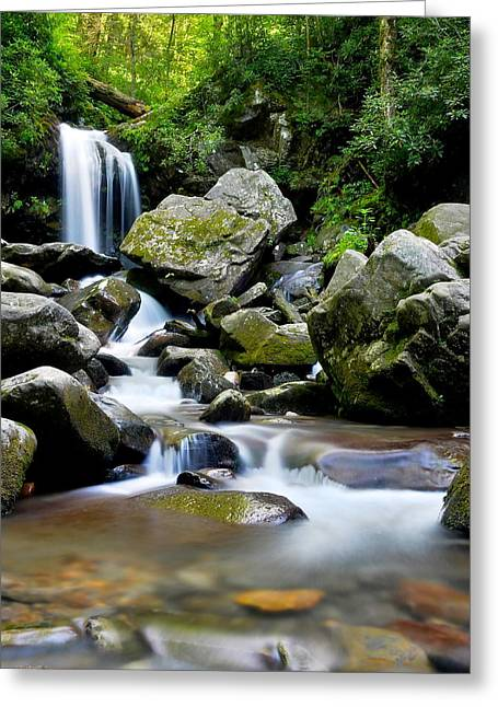 Bubbly Greeting Cards - Grotto Falls Greeting Card by Frozen in Time Fine Art Photography