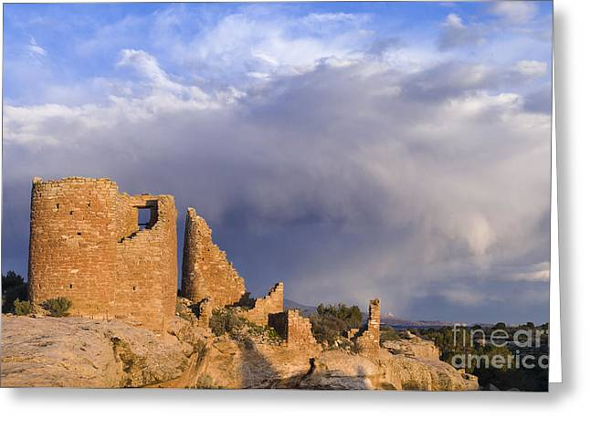 North Country Trail Greeting Cards - Hovenweep Castle Ruins Greeting Card by John Shaw