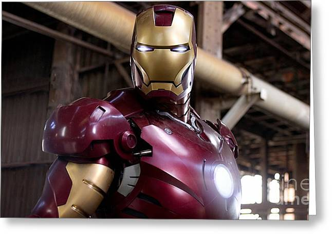 Superhero Greeting Cards - Iron Man Greeting Card by Marvin Blaine