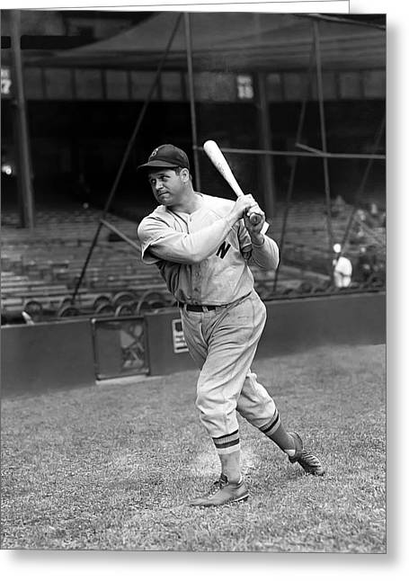 Boston Red Sox Greeting Cards - James E. Jimmie Foxx Greeting Card by Retro Images Archive