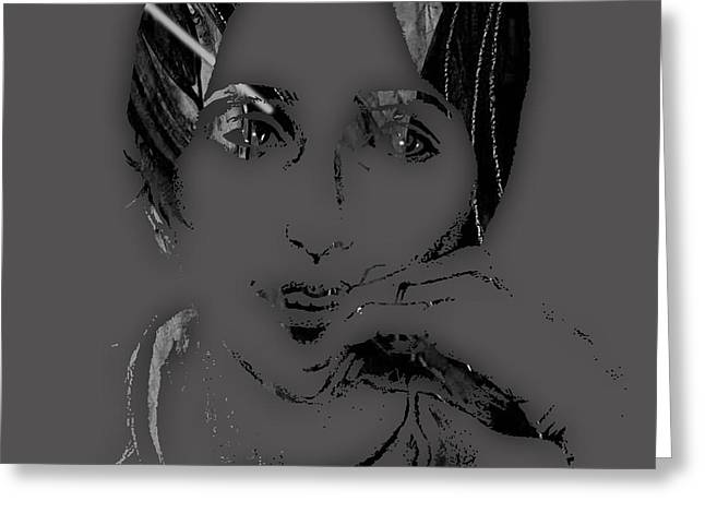 Pop Singer Greeting Cards - Joan Baez Collection Greeting Card by Marvin Blaine