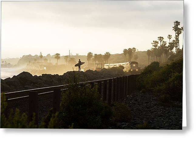 San Clemente Surfing Greeting Cards - 7 Greeting Card by Joey  Maganini