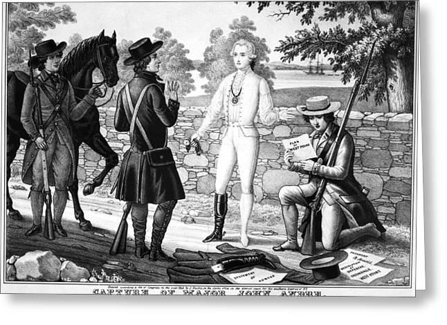 Bayonet Greeting Cards - John Andre (1751-1780) Greeting Card by Granger