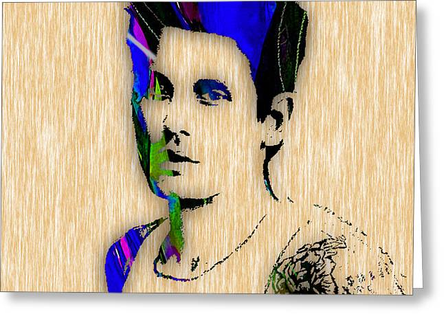 John Mayer Collection Greeting Card by Marvin Blaine