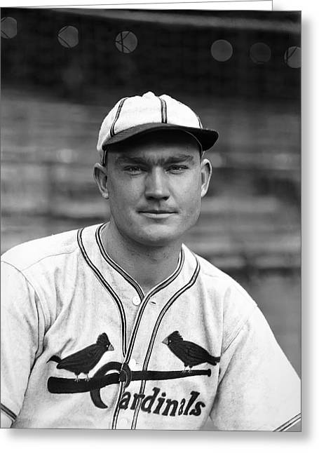 National League Baseball Greeting Cards - John R. Johnny Mize Greeting Card by Retro Images Archive