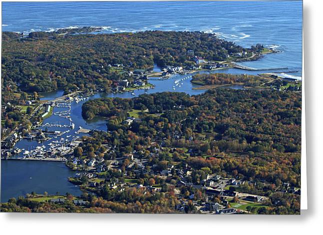 Maine Landscape Greeting Cards - Kennebunkport, Maine Greeting Card by Dave Cleaveland