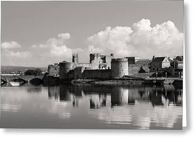Shannon Greeting Cards - King Johns Castle Limerick Ireland Greeting Card by Pierre Leclerc Photography