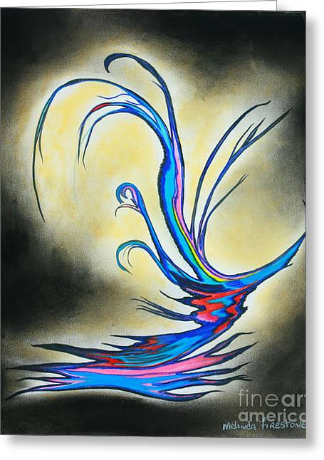 Glowing Pastels Greeting Cards - Little Bird Greeting Card by Melinda Firestone-White