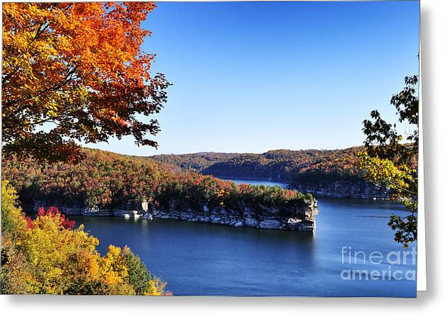 Nicholas Greeting Cards - Long Point Summersville Lake Greeting Card by Thomas R Fletcher
