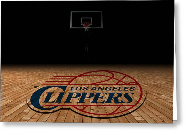Team Greeting Cards - Los Angeles Clippers Greeting Card by Joe Hamilton