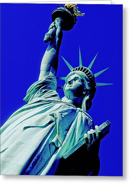 Stability Greeting Cards - Low Angle View Of A Statue, Statue Of Greeting Card by Panoramic Images