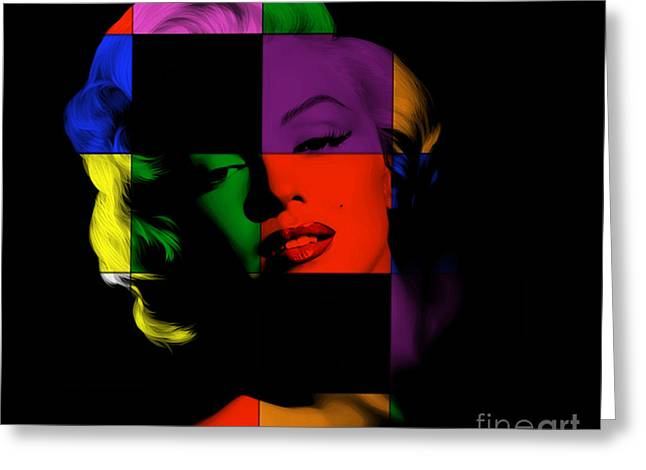 Monroe Greeting Cards - Marylin Monroe Painting Greeting Card by Marvin Blaine