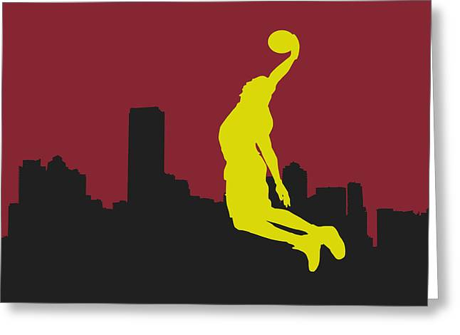 Lebron James Greeting Cards - Miami Heat Greeting Card by Joe Hamilton