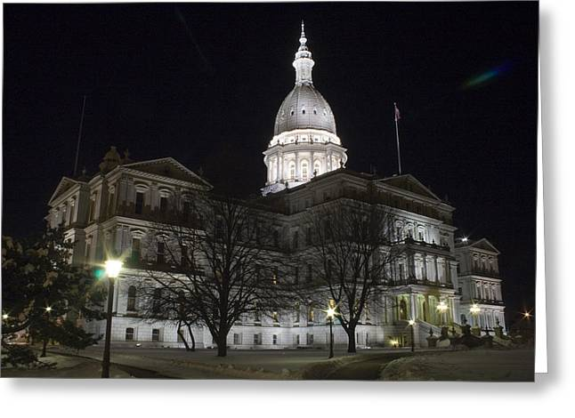 Trees Greeting Cards - Michigan Capital Greeting Card by Gary Marx