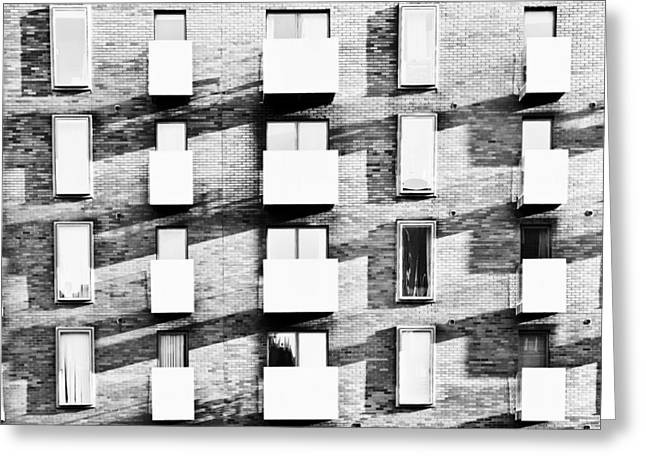 Development Greeting Cards - Modern apartments Greeting Card by Tom Gowanlock