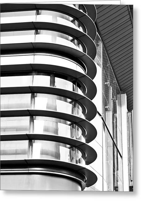 Structural Greeting Cards - Modern architecture Greeting Card by Tom Gowanlock