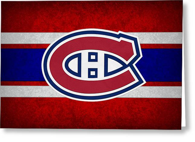 Skates Greeting Cards - Montreal Canadiens Greeting Card by Joe Hamilton